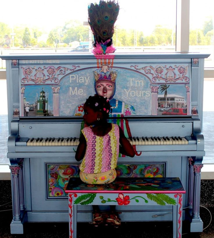 community painted piano