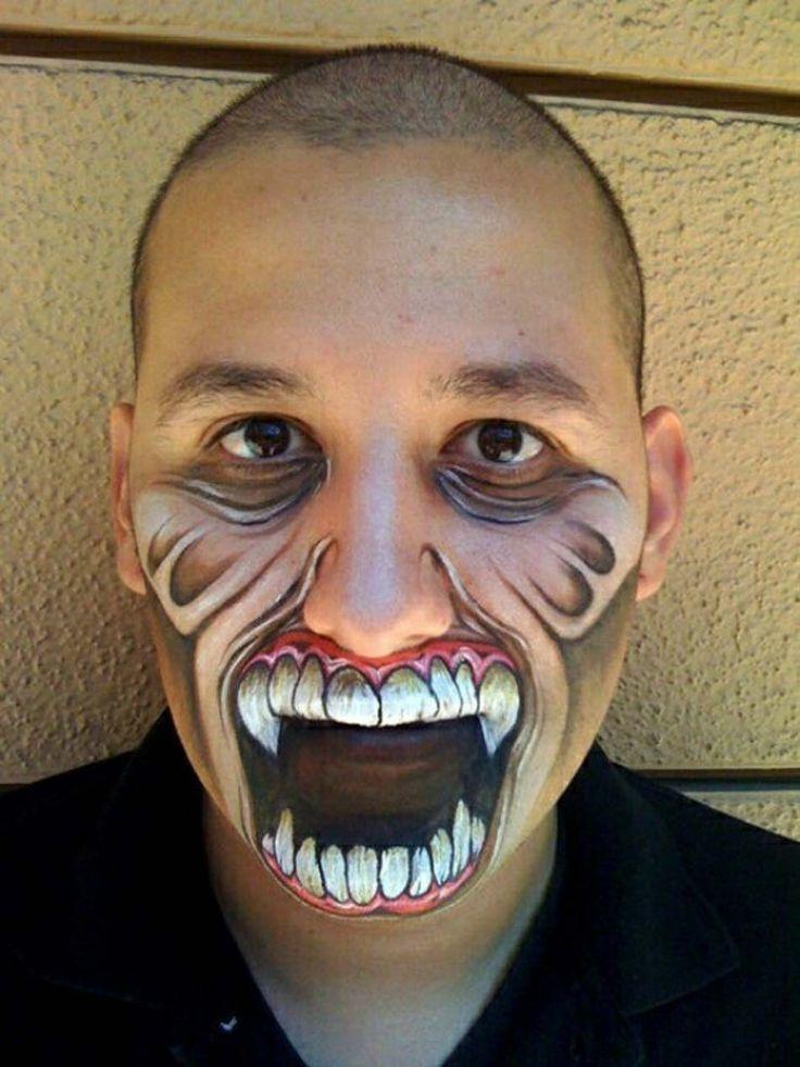 Se maquiller juste le bas du visage et être toujours dans l'esprit de la fête des morts