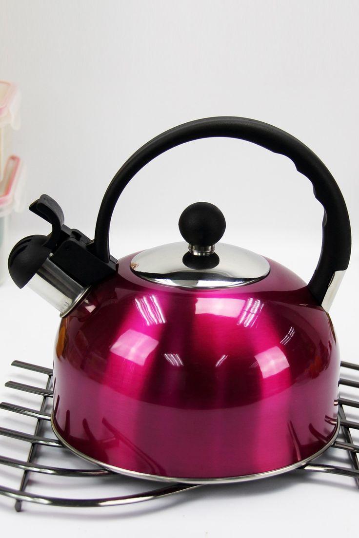 best kettle images on pinterest  tea kettles tea time and kettle - whistling tea satin coral kettle with bakelite handles