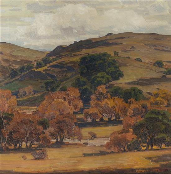 California Brown Hill Scene - William Wendt