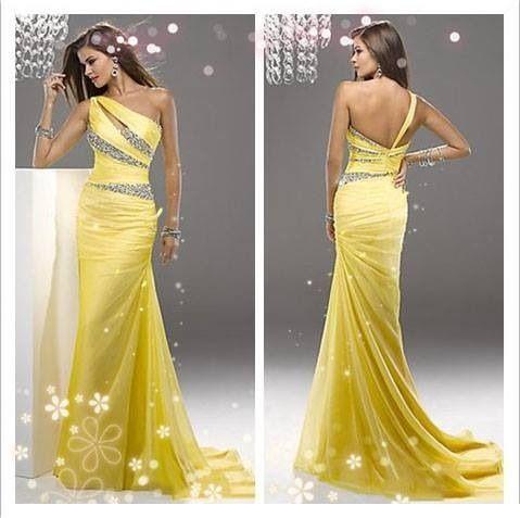 Amarillo de la vendimia Vestido de Verano Nuevas