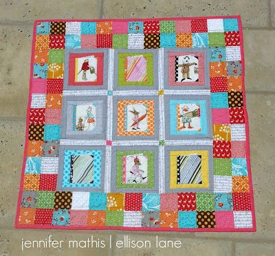 Ellison Lane : Patchwork Please: Books For Baby Quilt (a giveaway too!)