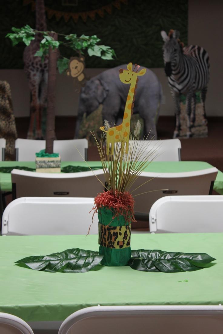 Baby Shower Decorations Using Cricut ~ Baby shower safari theme i did using the cricut