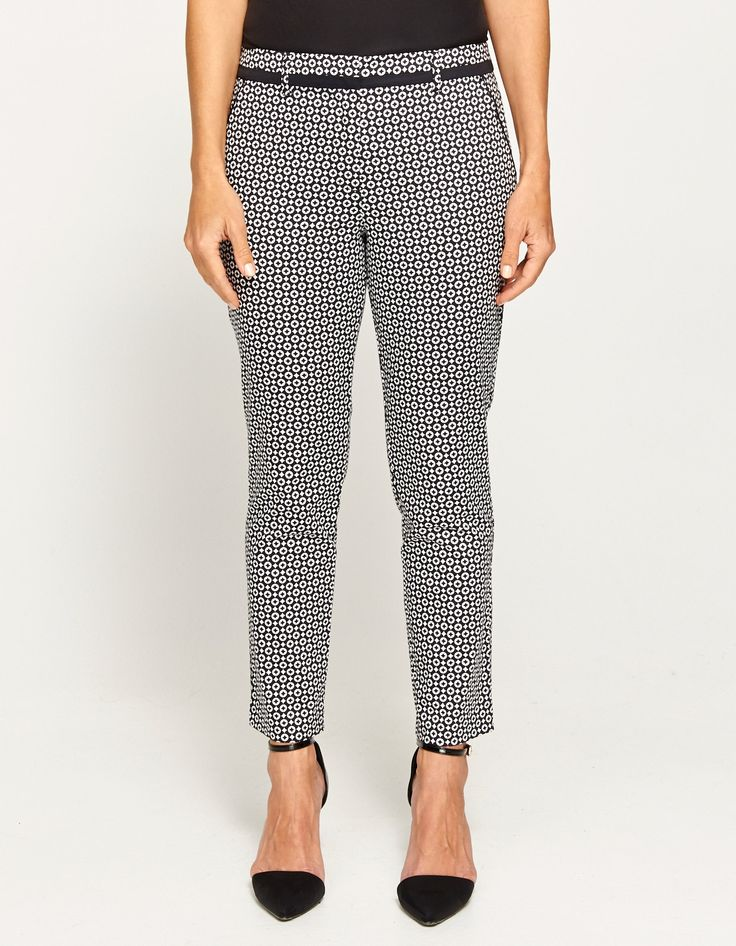 7/8Th Printed Sateen Pant - From JacquiE