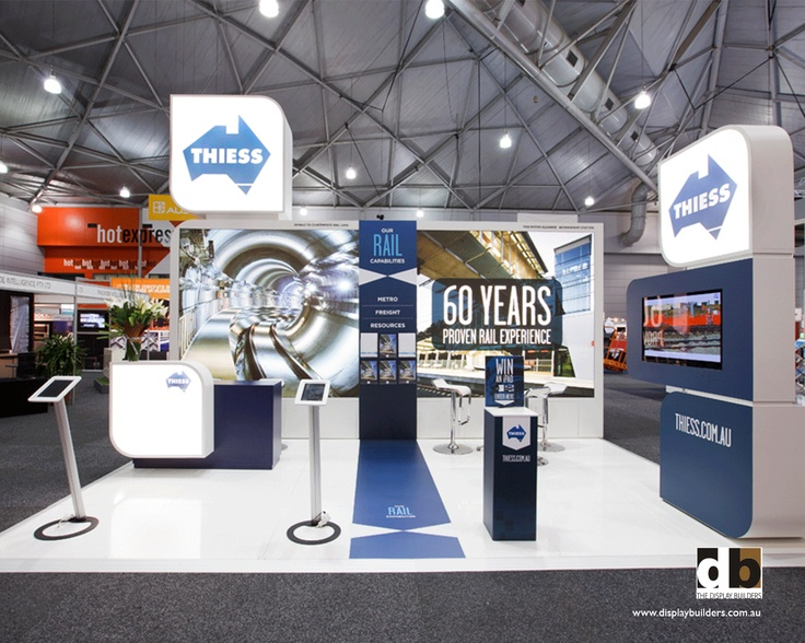 Thiess @ Ausrail 2011 shared a back wall with a neighbouring stand so all activity on the stand was pushed forward of that to maximise the 6 x 6 footprint
