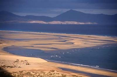 Playa de Sotavento Fuerteventura One day visit to Fuerteventura on January 2013
