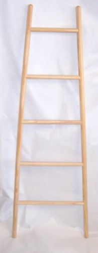 Wooden Towel Ladder Tapered 140cms Tall | eBay