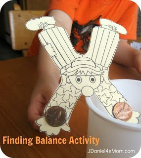 """Science Activity, """"Finding Balance"""" (free printable & directions from Discover Primary Science via JDaniel4's  Mom)"""