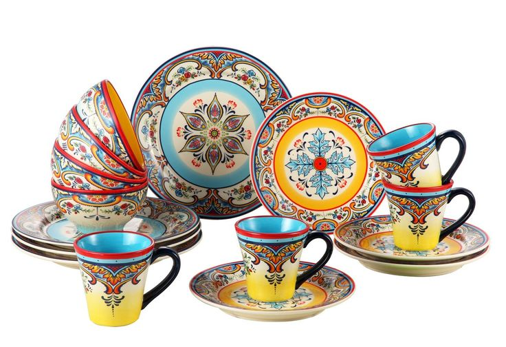Find new expression with this vibrantly embellished dinnerware. Rich, colorful, and artisan inspired; reflecting characteristics of the South of Spain. Zanzibar is a great addition to everyday decor or special-occasion parties. Designed in Europe.