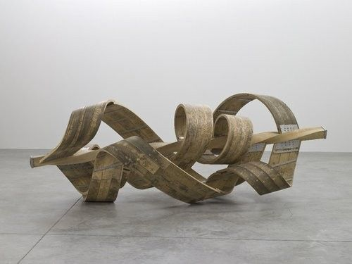 Richard Deacon Individual, 2004 Steamed ash and stainless steel