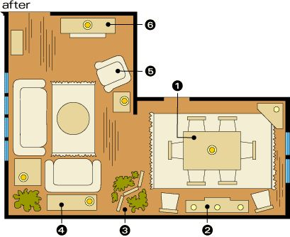 l shaped living dining room furniture layout 1000 images about l shaped room ideas on 27759