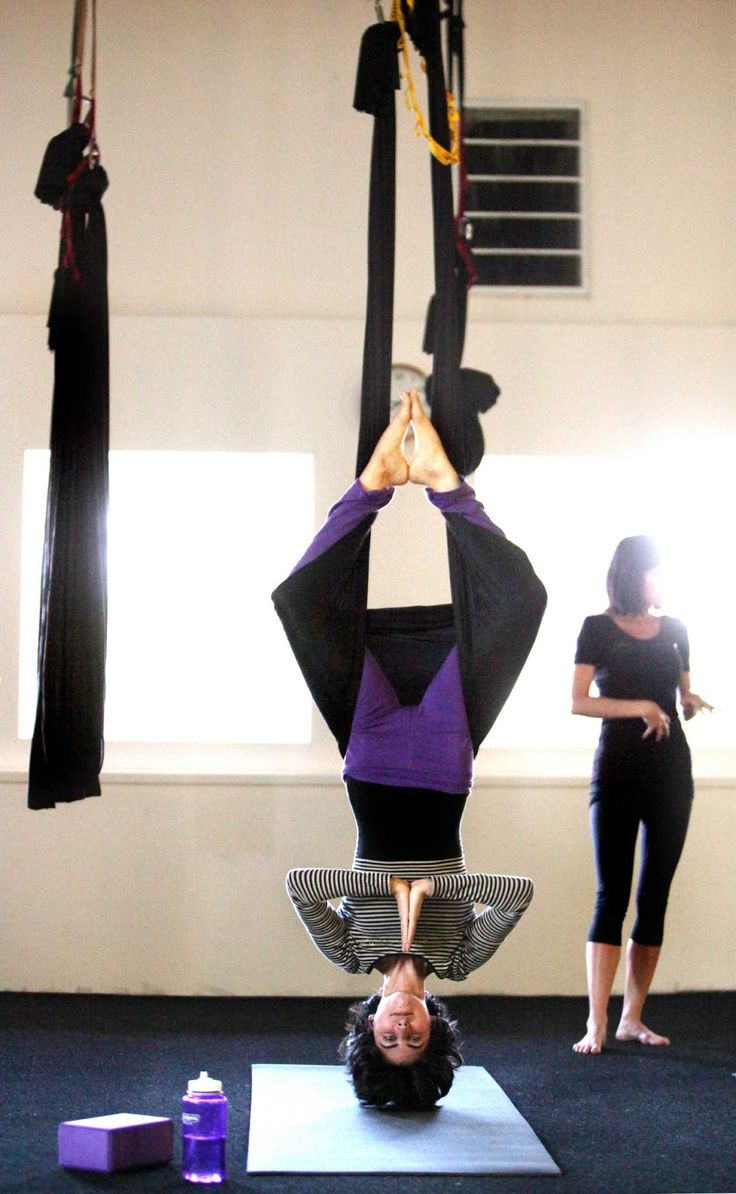 Aerial Yoga Houston helps you fly high, stretch long