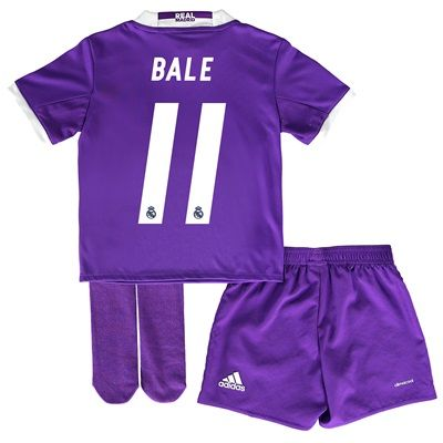 Real Madrid Away Jersey 2016/17 - Infant - with Bale 11 printing: With ventilating climacool® technology… #RealMadridShop #RealMadridStore