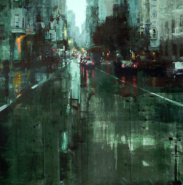 rainy street photo painting Digital art selected for the Daily Inspiration #1354