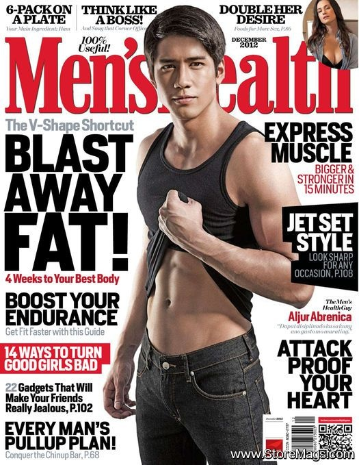 Aljur Abrenica - Men's Health Magazine Cover [Philippines] (December 2012)