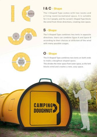 """The Camping Doughnut Is An """"Effortless"""" Alternative To The Traditional Tent ... see more at InventorSpot.com Just concept right now , but I want 2!"""