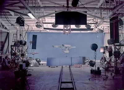 Star Trek Prop, Costume & Auction Authority: Rare Star Trek: The Original Series Behind The Scenes Photos - Starship Filming Models