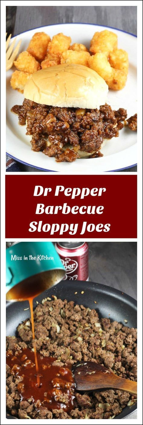 Dr Pepper Barbecue Sloppy Joes Recipe ~ Perfect dinner for busy weeknights and a favorite for tailgating! Sponsored by Dr Pepper and Dollar General ~ Recipe found at MissintheKitchen.com