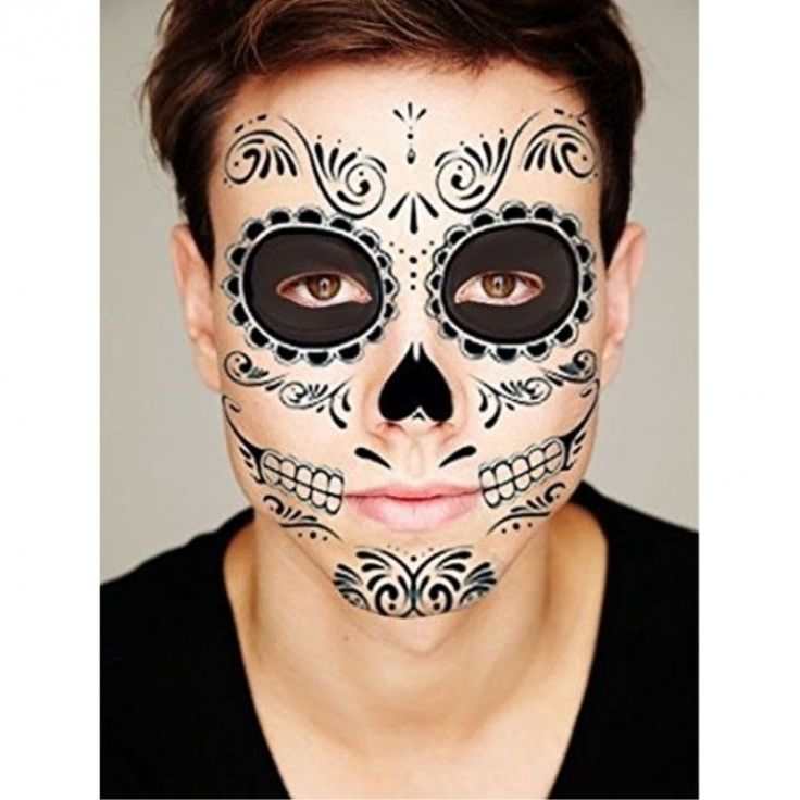 30 sugar skull face paint ideas for halloween entertainmentmesh. Black Bedroom Furniture Sets. Home Design Ideas