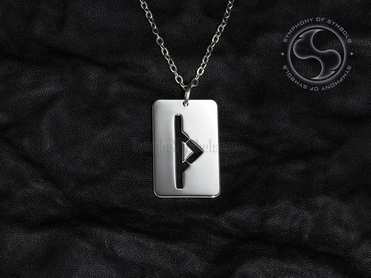 Thurisaz Rune Pendant Viking Symbol Stainless Steel Jewelry Thurs Rune Necklace Keychain TH Rune Logo Elder Futhark Amulet Thor God Sign