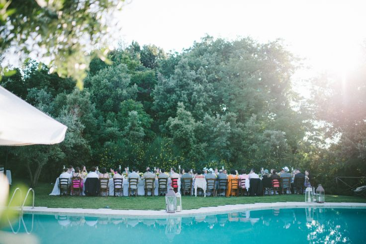 Outdoor Poolside Italian Reception Venue | photography by http://www.leliascarfiotti.com