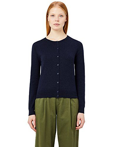 df1a8810d2d368 MERAKI Women s Cotton Crew Neck Cardigan  christmas  winter  fashion ...