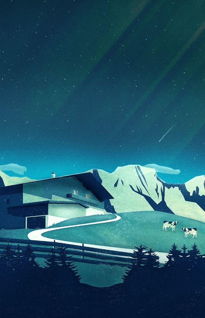 Alpine Hut Art Print by Schwebewesen • Romina Lutz | Society6