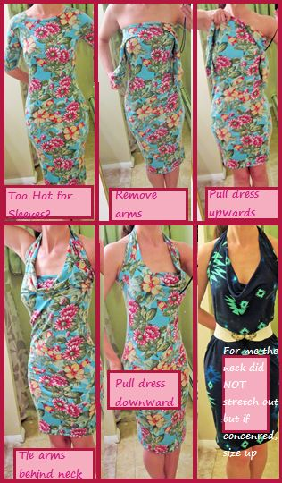 Love the light blue floral pattern. Love how this dress can change so quickly. 2 looks 1 great dress!