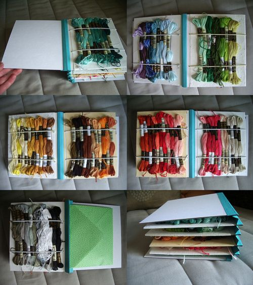 Ideas about embroidery floss storage on pinterest