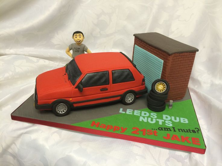VW mk2 golf cake
