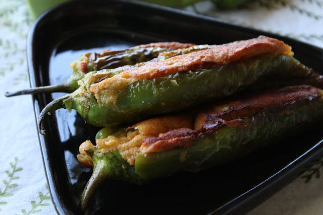 Maharashtrian style stuffed chilies/peppers