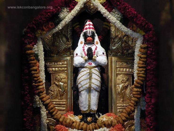 Hanuman idol at ISKCON Bangalore