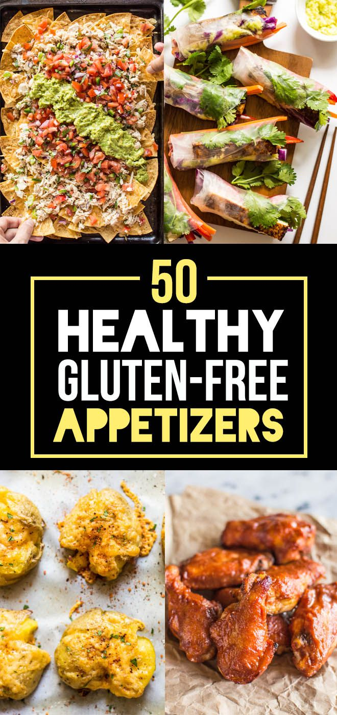 50 Healthy Gluten-Free Appetizers - delicious bites that are perfect for game day or your next party! | healthynibblesandbits.com