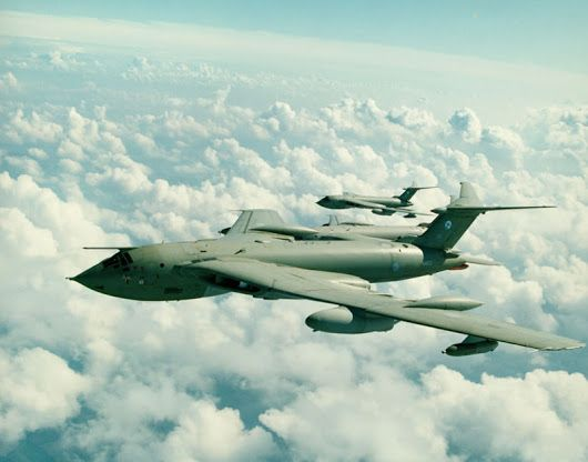 The Handley Page Victor was a futuristic-looking strategic bomber with four t...