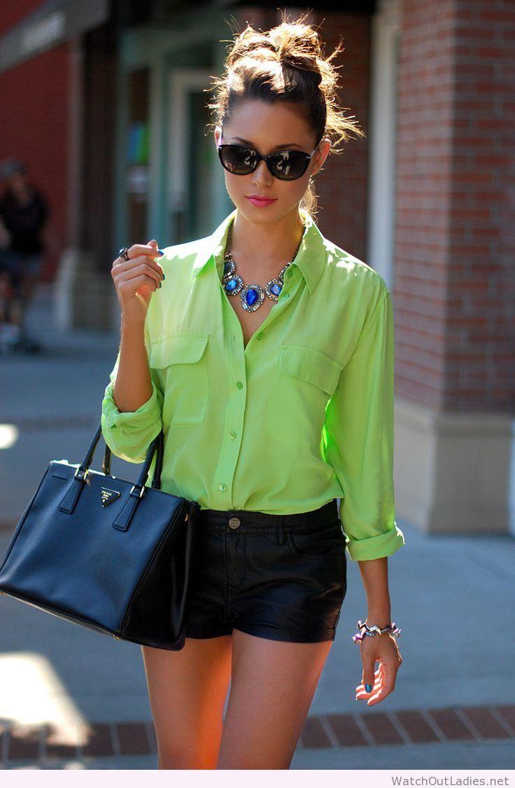 Hapa Time short pants, green shirt and black bag | Fashion ...