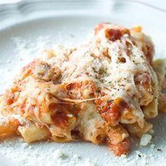 Baked Ziti with Sausage ~ Pasta with Italian sausage, ricotta, Italian ...