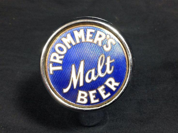 1930s Trommer's Beer Chrome Ball Tap Knob New York #trommers #beer #breweriana #cjbeez