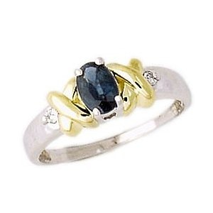 Two Tone Sapphire and Diamond Ring (Jewelry)  http://documentaries.me.uk/other.php?p=B0000E1MXN  B0000E1MXN