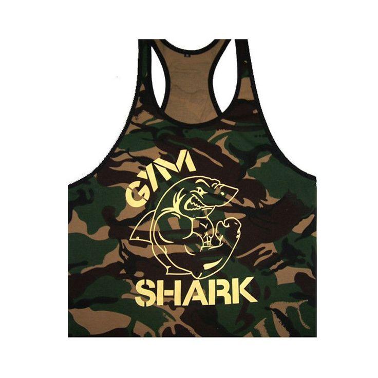 New Singlets Camouflage Tank Tops Shirt Bodybuilding Fitness Men's Golds T-shirt Stringer