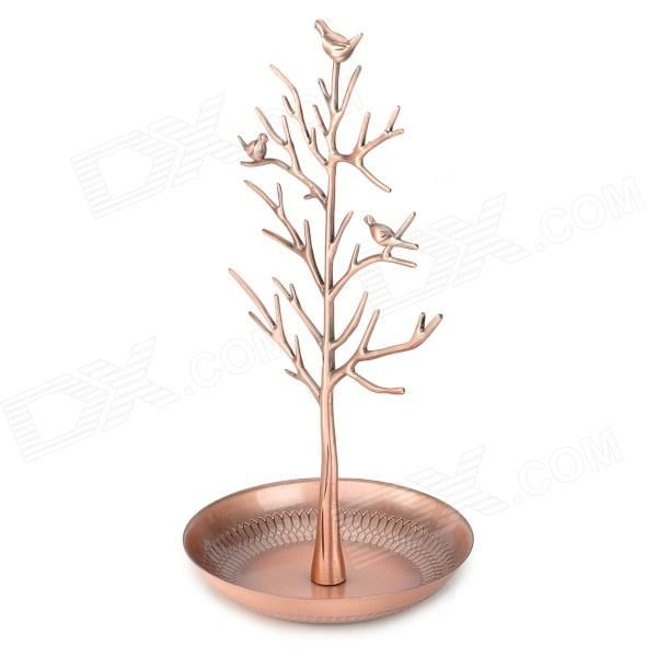 Jewelry Earring Necklace Ring Bird Tree Stand Holder Display Rack