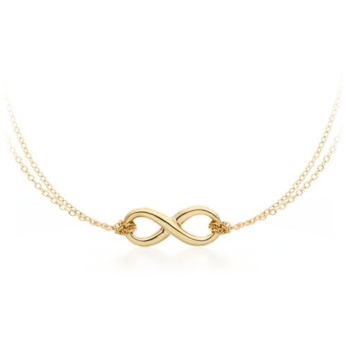 Double Bound Infinity Pendant Gold Plated