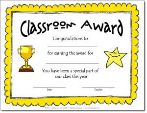 Classroom Awards freebie from Laura Candler