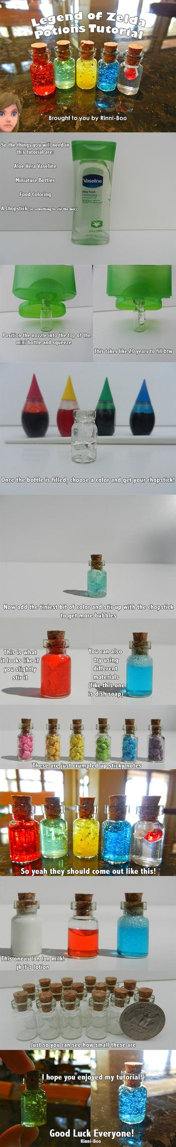DIY Legend of Zelda Potions Tutoral by Rinni-Boo