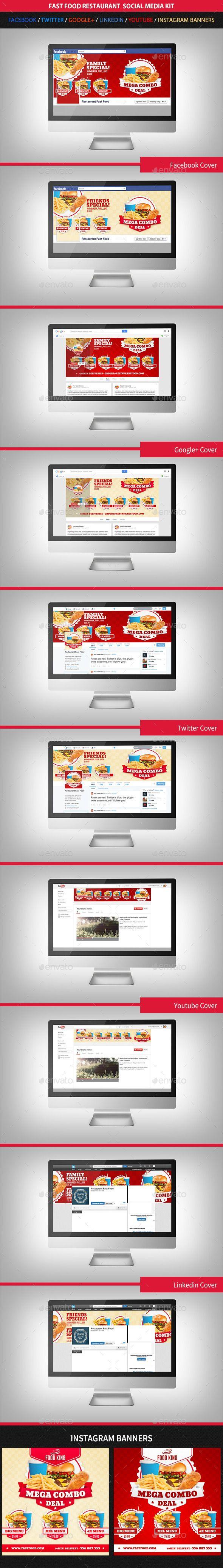 Restaurant Fast Food Web Social Media Kit