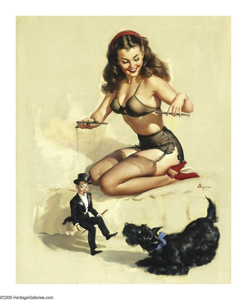 Classic pin up and a Scottie! Adorable.