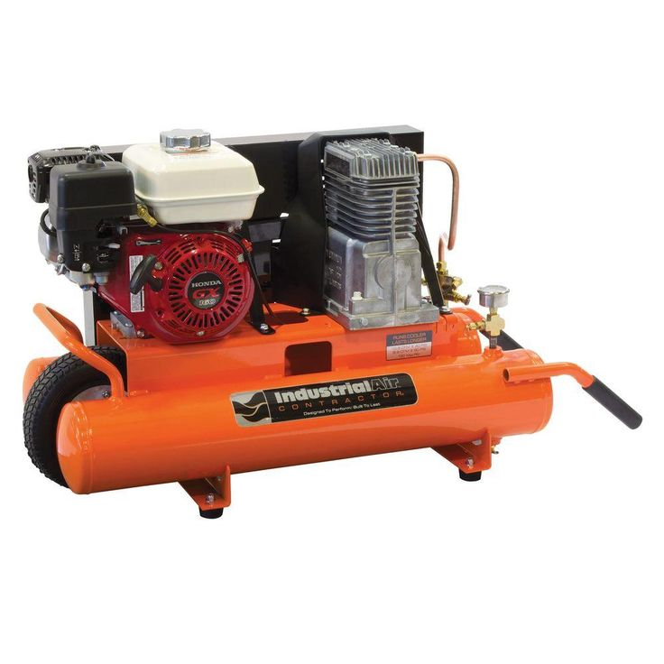 gas air compressor. portable gas-powered wheelbarrow air compressor gas