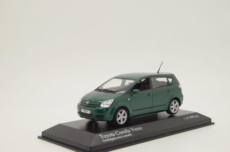 Cool Amazing RARE !! Toyota Corolla Verso Green Metallic 2004 Minichamps 166361 1/43  2017 2018 Check more at https://24auto.tk/toyota/amazing-rare-toyota-corolla-verso-green-metallic-2004-minichamps-166361-143-2017-2018/