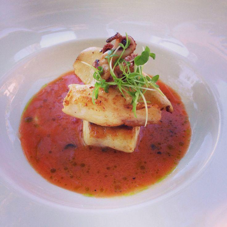 Gazpacho with fish and Calamari