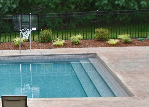 vinyl liner in ground swimming pool steps general swimming pool
