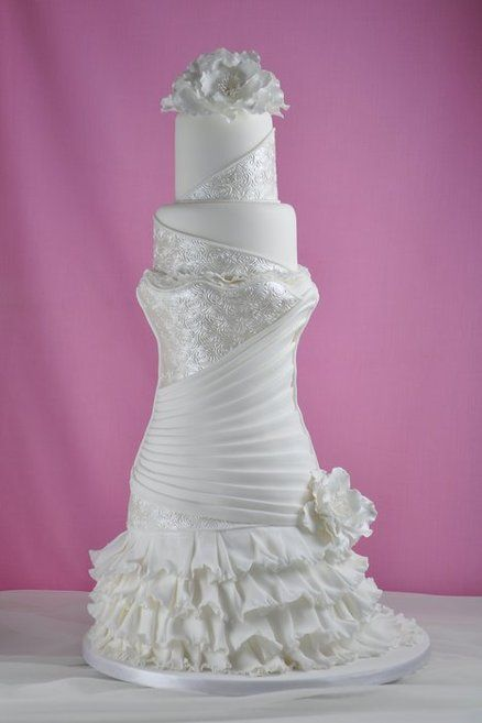 523 best simply elegant wedding cakes images on pinterest for Simply elegant wedding dresses